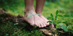 bare feet on earth