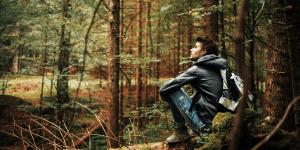 man meditating-Attention Restoration Theory